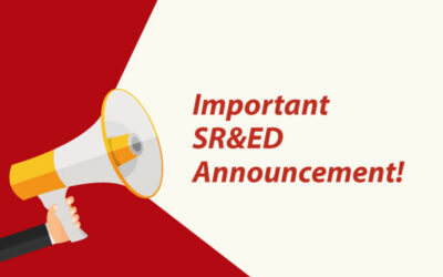 Important SR&ED Announcement